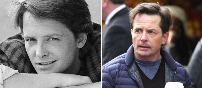 Michael J. Fox then and now