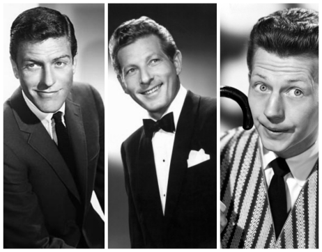 Dick Van Dyke, Danny Kaye and Donald O'Connor collage