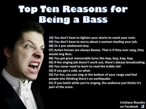 Top Ten reasons for being a bass