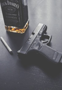 Whiskey and gun