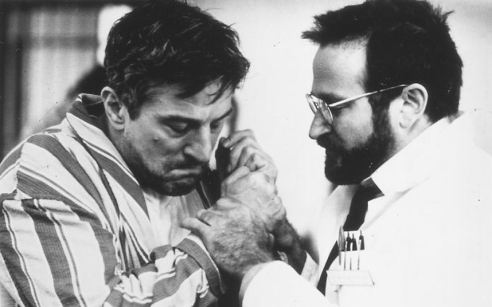 Robin Williams and Robert De Niro in Awakenings