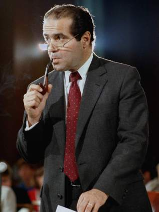 Justice Scalia with pipe
